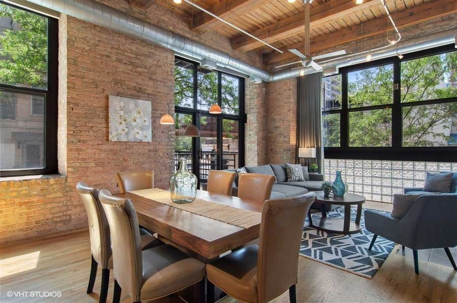 South Loop - 1525 South Michigan Avenue Unit 101, Chicago, IL 60605 - Dining Room Living Room