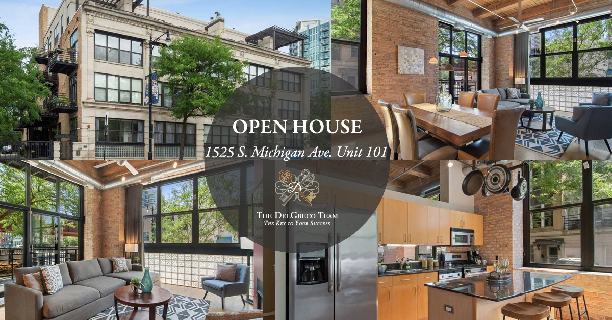 DelGreco Team Coldwell Banker August 2021 Open House - South Loop - 1525 South Michigan Avenue Unit 101, Chicago, IL 60605